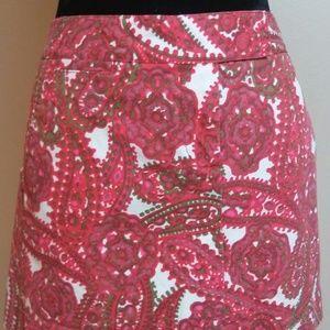 J Crew Sz 8 Multi-Color Paisley Print Mini Skirt